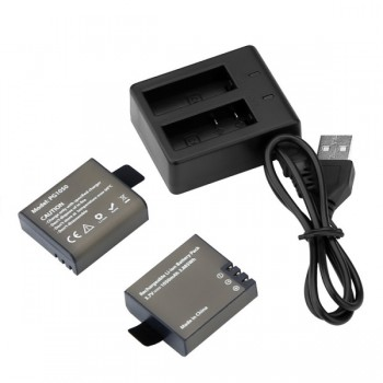 Akaso PG1050 - Διπλός φορτιστής και 2 μπαταρίες (EK7000/EK7000 Plus/EK7000 Pro/Brave 4/ Brave 6/APEMAN/CAMPARK/Vision 3/Vision 4)