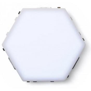 Led Μαγνητικό Επιτοίχιο Φωτιστικό Αφής – Quantum White LED Hexagonal 6500k σετ 10 τεμαχίων