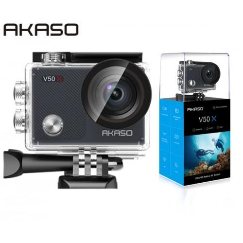 AKASO V50X Action Cam (2'' οθόνη-4K/30fps-20MP-Wifi-2 μπαταρίες)