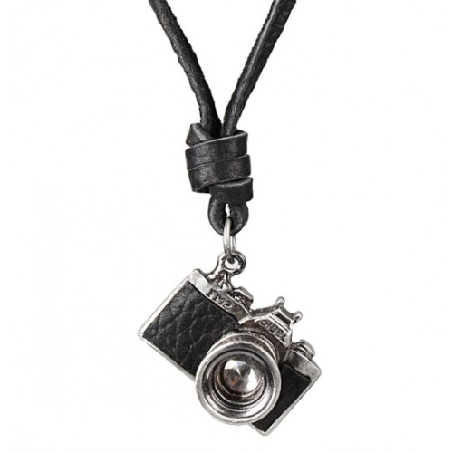 Μενταγιόν Δερμάτινο Κρεμαστό με σχέδιο φωτογραφική μηχανή