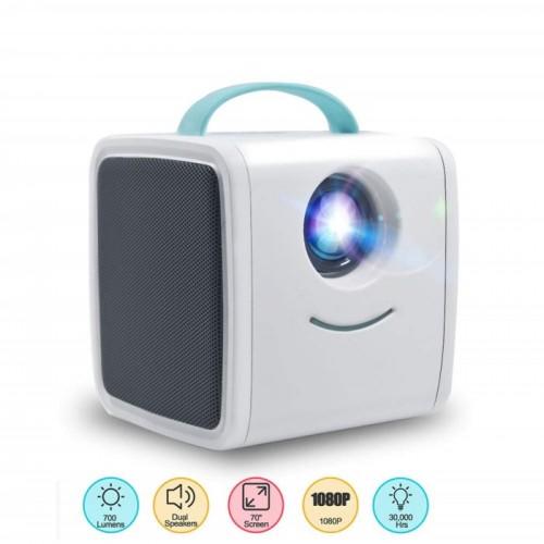 Excelvan Q2 Kids Projector Μίνι έγχρωμος LED Projector με εισόδους HDMI, AV, USB και κάρτα SD (Μπλε)