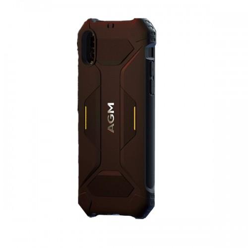 AGM Black Shield Yellow-Black Standard Rugged Ανθεκτική Θήκη (STD-810G/Microfleece) για iPhone X/Xs