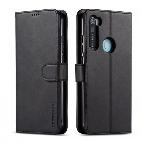 Δερμάτινη Θήκη Πορτοφόλι με Βάση Στήριξης για Xiaomi Redmi Note 8 - Μαύρο
