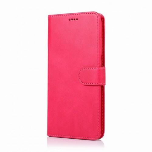 Δερμάτινη Θήκη Πορτοφόλι με Βάση Στήριξης για Xiaomi Redmi 8A - Κόκκινο