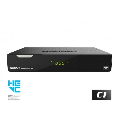 Δορυφορικός Δέκτης με PAOK TV H.265 EDISION PICCOLLO S2+T2/C
