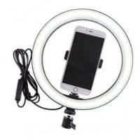 Επαγγελματικό Φωτογραφικό Φωτιστικό Δαχτυλίδι Ring Lamp Light LED USB 26εκ. (3 Χρώματα Φωτισμού/ Dimmer)