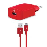 TTEC SpeedCharger Ταχυφορτιστής Ταξιδιού και καλώδιο Για Android (type-c) Κόκκινο