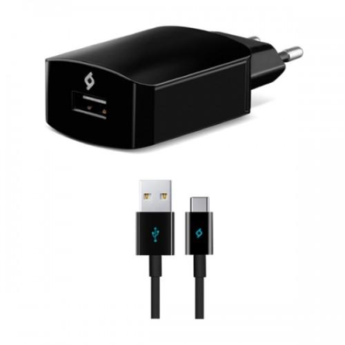 TTEC SpeedCharger Ταχυφορτιστής Ταξιδιού και καλώδιο Για Android (type-c) 2SCS01CS Μαύρο