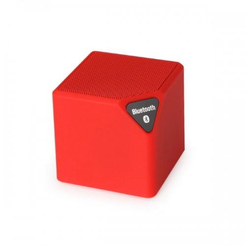 X3 Cube Mini Ηχείο Bluetooth,Handsfree,FM Radio,TF/USB(OEM) (Κόκκινο)