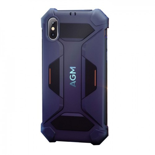 AGM Black Shield Red-Black Master Rugged Ανθεκτική Θήκη (STD-810G/Kevlar) για iPhone X/Xs