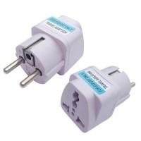 Μετατροπέας Αγγλικής Αμερικάνικης & Αυστραλιανής Πρίζας σε Ευρωπαϊκή Σούκο 220V – Ac Power Adapter UK-AU-US Socket to EU Schuko Plug