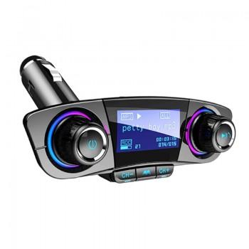 FM Transmitter Bluetooth και Φορτιστής ΒΤ06 54619 (mSD/Aux/Dual USB/Handsfree)