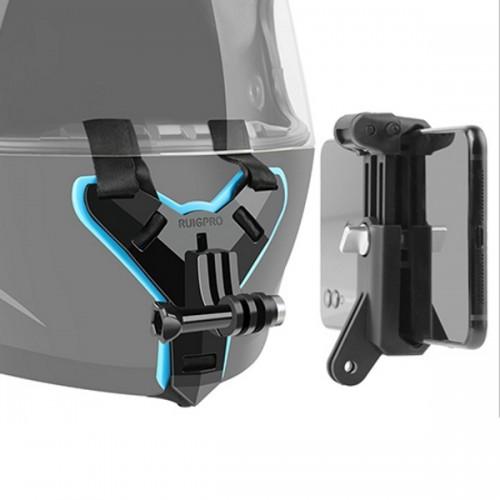 RuigPro 72614 Βάση κράνους μηχανής για Action Camera και Smartphone