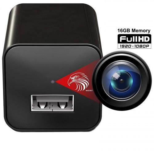 Bulk SPY-010 Φορτιστής Κινητού με Κρυφή Κάμερα και κάρτα μνήμης 16GB FHD USB