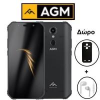 """AGM A9 (5.99""""/8πύρηνο/Αδιάβροχο IP68/Rugged/4GB-32GB) Μαύρο (Δώρο Ακουστικά+Θήκη)"""