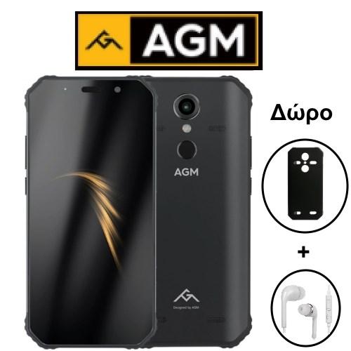 """AGM A9 (5.99""""/8πύρηνο/Αδιάβροχο IP68/Rugged/4GB-64GB) Μαύρο (Δώρο Ακουστικά+Θήκη)"""