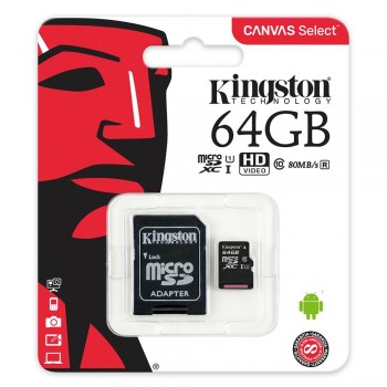 Kingston Canvas Select microSDXC Speed Class 10 SDCS/64GB