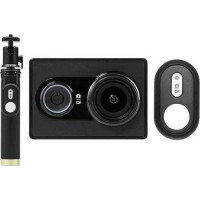 Yi EU Edition Ambarella A7LS Action Camera με Selfiestick και Bluetooth Remote Controller (Μαύρη)