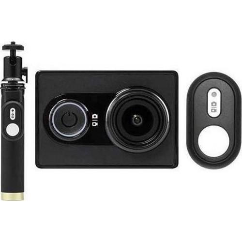 Yi EU Edition Ambarella A7LS Action Camera με Selfiestick και Bluetooth Remote Controller (Μαύρη)