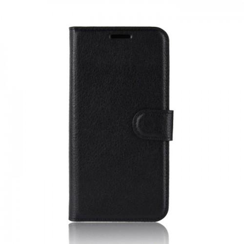 Wallet Δερμάτινη Θήκη Πορτοφόλι με Βάση Στήριξης για Lenovo S5 - Μαύρη