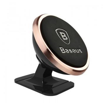 Baseus Μαγνητική Βάση Αυτοκινήτου 360ᵒ Rotation (Gold Rose)