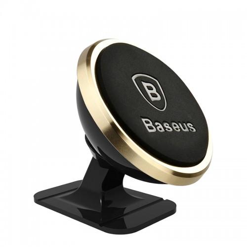 Baseus Μαγνητική Βάση Αυτοκινήτου 360ᵒ Rotation (Luxury Gold)
