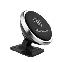 Baseus Μαγνητική Βάση Αυτοκινήτου 360ᵒ Rotation (Silver)