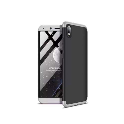 GKK 360 Full Cover Μαύρο/Ασημί (Xiaomi Redmi 7A)