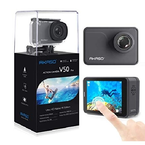AKASO Action Cam V50 Pro Ultra HD (2'' οθόνη-4K/30fps-20MP-Wifi-2 μπαταρίες)