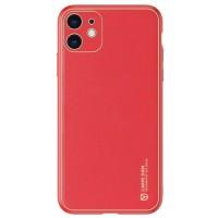 Dux Ducis Yolo Series Δερμάτινη θήκη για iPhone 11 (Κόκκινο)