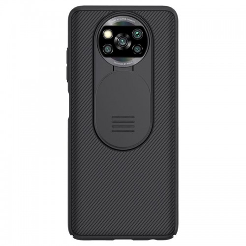 Nillkin® CamShield Back Cover Σιλικόνης (Xiaomi Poco X3 NFC) Μαύρο