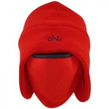 Σκούφος Φλις Ushanka με Κάλυμμα για το Πρόσωπο ΟΕΜ-YG12461 (Κόκκινο)
