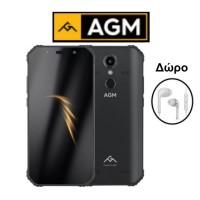 """AGM A9 (5.99""""/8πύρηνο/Αδιάβροχο IP68/Rugged/4GB-32GB) Μαύρο (Δώρο Ακουστικά)"""