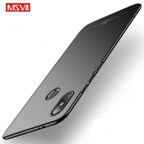 MSVII Ματ Backcover Θήκη (Xiaomi Mi A2) ( Μαύρη)