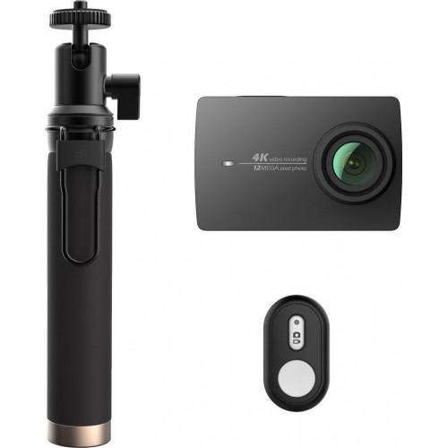 Yi 4K & Selfie Stick - EU Edition (4K 12MP WIFI Action Cam) (Μαύρο)