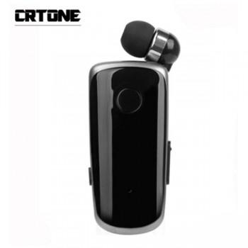 CRTONE K39 Mini Wireless Bluetooth Headset με Ανασυρόμενο Ακουστικό (Μαύρο)