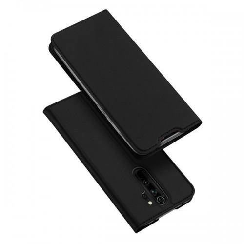 Dux Ducis Skin Pro Δερμάτινη Μαγνητική Θήκη Πορτοφόλι με Βάση Στήριξης για Xiaomi Redmi Note 8 Pro - Μαύρο