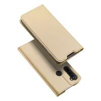 Dux Ducis Skin Pro Δερμάτινη Μαγνητική Θήκη Πορτοφόλι με Βάση Στήριξης για Xiaomi Redmi Note 8 - Gold
