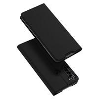 Dux Ducis Skin Pro Δερμάτινη Μαγνητική Θήκη Πορτοφόλι με Βάση Στήριξης για Xiaomi Redmi Note 8T - Μαύρο