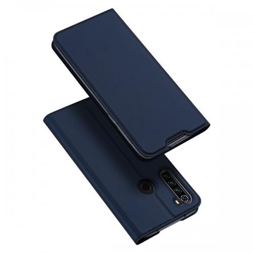 Dux Ducis Skin Pro Δερμάτινη Μαγνητική Θήκη Πορτοφόλι με Βάση Στήριξης για Xiaomi Redmi Note 8T - Μπλε