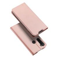 Dux Ducis Skin Pro Δερμάτινη Μαγνητική Θήκη Πορτοφόλι με Βάση Στήριξης για Xiaomi Redmi Note 8 - Rose