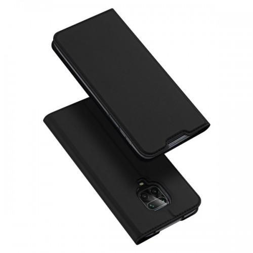 Dux Ducis Skin Pro Δερμάτινη Μαγνητική Θήκη Πορτοφόλι με Βάση Στήριξης για Xiaomi Redmi Note 9s/9Pro - Μαύρο