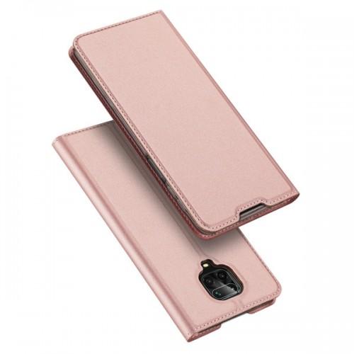 Dux Ducis Skin Pro Δερμάτινη Μαγνητική Θήκη Πορτοφόλι με Βάση Στήριξης για Xiaomi Redmi Note 9s/9Pro - Rose