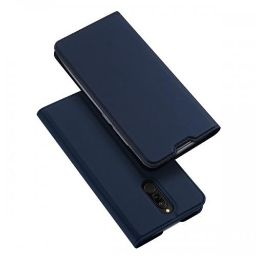 Dux Ducis Skin Pro Δερμάτινη Θήκη Βάση Στήριξης Xiaomi Redmi 8 - Μπλε