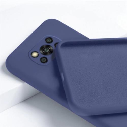 Θήκη Xiaomi Poco X3 NFC Back Cover Σιλικόνης Μπλε OEM 201021