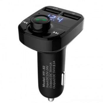 Hyundai FM Transmitter Bluetooth/φορτιστής αυτοκινήτου MP3/QC3.0 Διπλό USB/Οθόνη LED/TF Card
