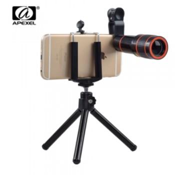 APEXEL APL-HS12X Φωτογραφικός Τηλεφακός με τρίποδο 12x Zoom για όλα τα κινητά τηλέφωνα και Smartphone