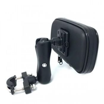 Dogain Αδιάβροχη Βάση Μηχανής για Κινητό με Βραχίονα 6'' Μαύρη 210820