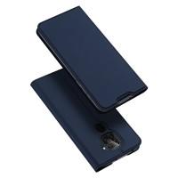 Dux Ducis Skin Pro Δερμάτινη Μαγνητική Θήκη Πορτοφόλι με Βάση Στήριξης για Xiaomi Redmi Note 9 - Blue