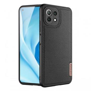 Dux Ducis Fino Back Cover TPU & Fabric Μαύρο για Xiaomi Mi 11 Lite 5G/4G